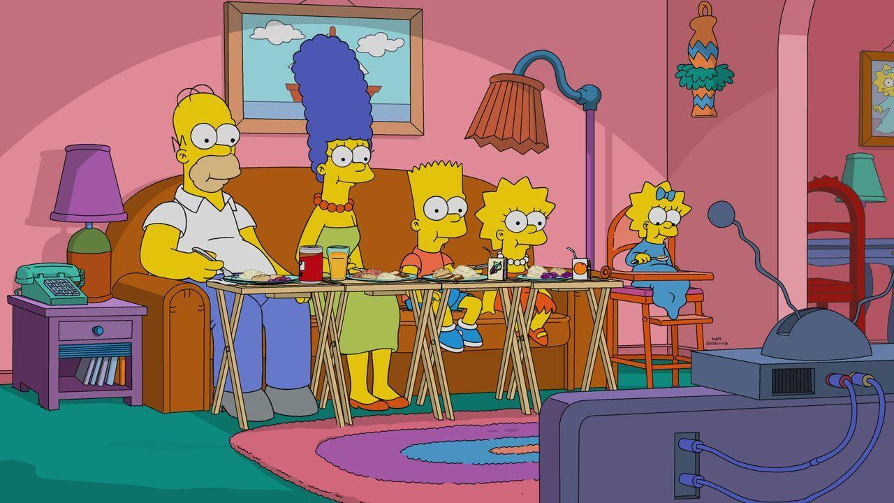 (v.l.n.r.) Homer; Marge; Bart; Lisa; Maggie - Bildquelle: 2019-2020 Twentieth Century Fox Film Corporation.  All rights reserved.