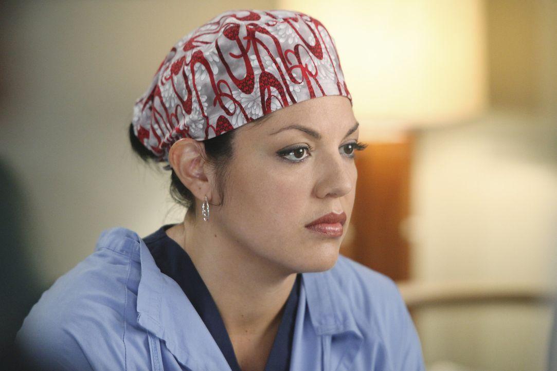 Callie (Sara Ramirez) bekommt es mit dem homosexuellen Paar Brady und Kyle zu tun, was sie zum Nachdenken bringt ... - Bildquelle: ABC Studios