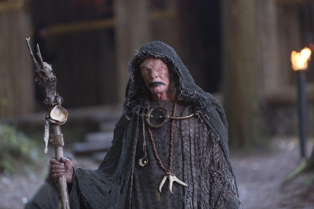 Glaubt, mit einem äußerst blutigen Ritual die Götter gewogen zu stimmen: der Seher (John Kavanagh) ... - Bildquelle: 2013 TM TELEVISION PRODUCTIONS LIMITED/T5 VIKINGS PRODUCTIONS INC. ALL RIGHTS RESERVED.