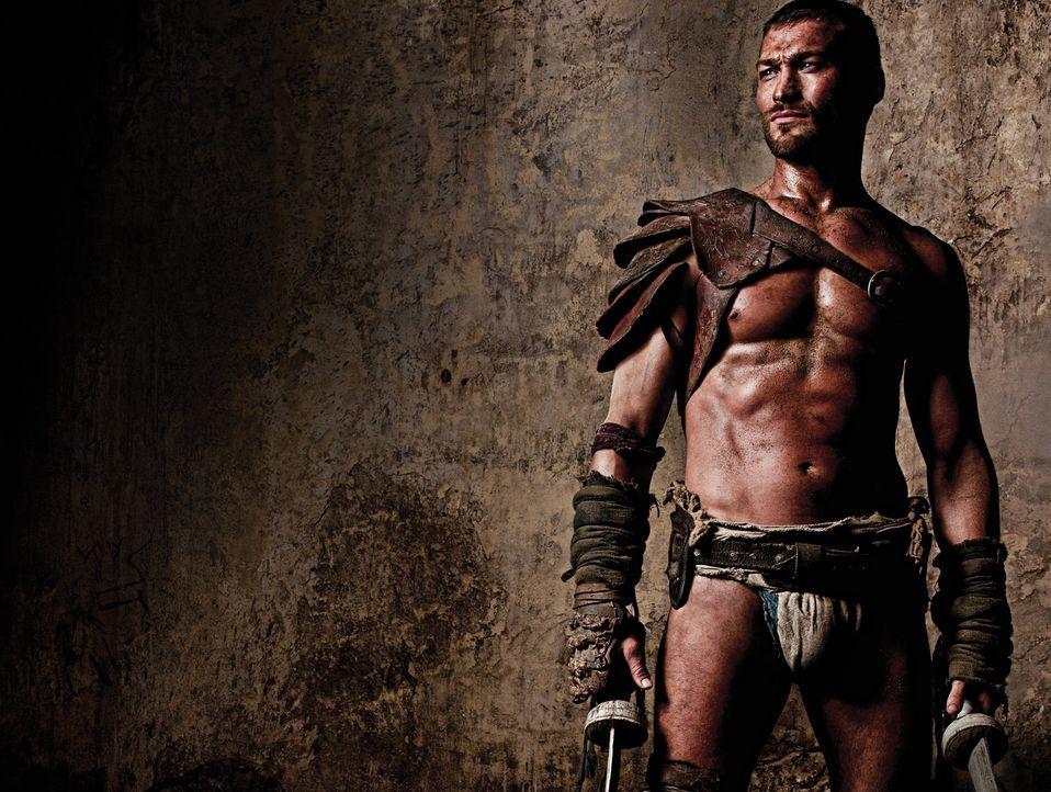 Spartacus (Andy Whitfield) stammt aus Thrakien und kämpft zunächst auf Seiten der Römer. Als er diesen die Gefolgschaft verweigert, wird gefangen... - Bildquelle: 2009 Starz Entertainment, LLC