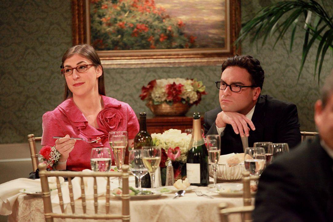 Leonard (Johnny Galecki, r.) und Amy (Mayim Bialik, l.) lernen sich etwas besser kennen, während Sheldon sich seiner neuen Eisenbahn widmet ... - Bildquelle: Warner Bros. Television