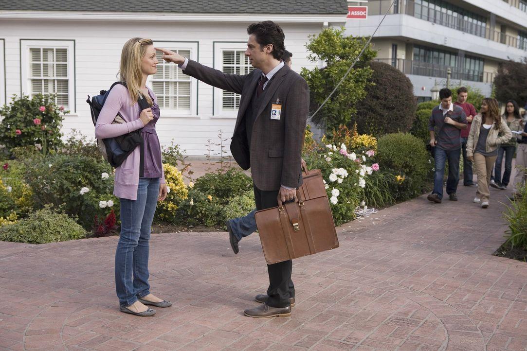 Lucy (Kerry Bishe, l.) macht sich große Sorgen, wie sie die Uni überleben soll, wenn J.D. (Zach Braff, r.) nicht mehr da ist ... - Bildquelle: Touchstone Television