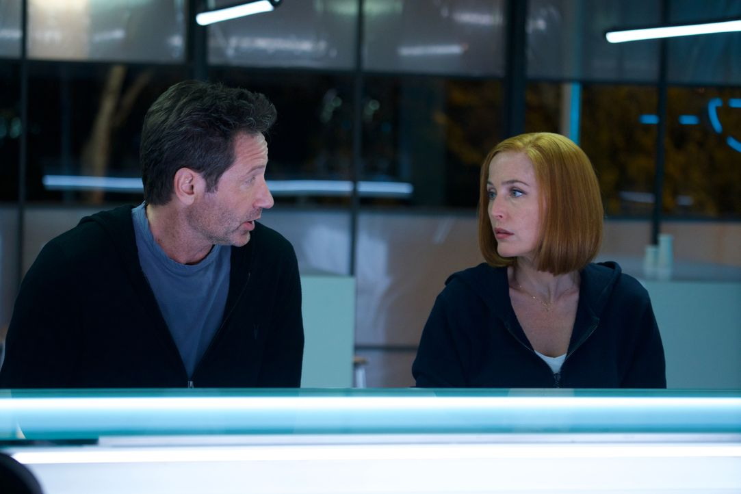 Mulder (David Duchovny, l.) und Scully (Gillian Anderson, r.) müssen sich mit künstlicher Intelligenz und zunehmender Automatisierung der Welt ausei... - Bildquelle: Shane Harvey 2018 Fox and its related entities.  All rights reserved.