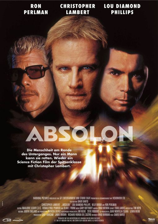 Absolon mit (v.l.n.r.) Ron Perlman, Christopher Lambert und Lou Diamond Phillips - Bildquelle: Hannibal Pictures