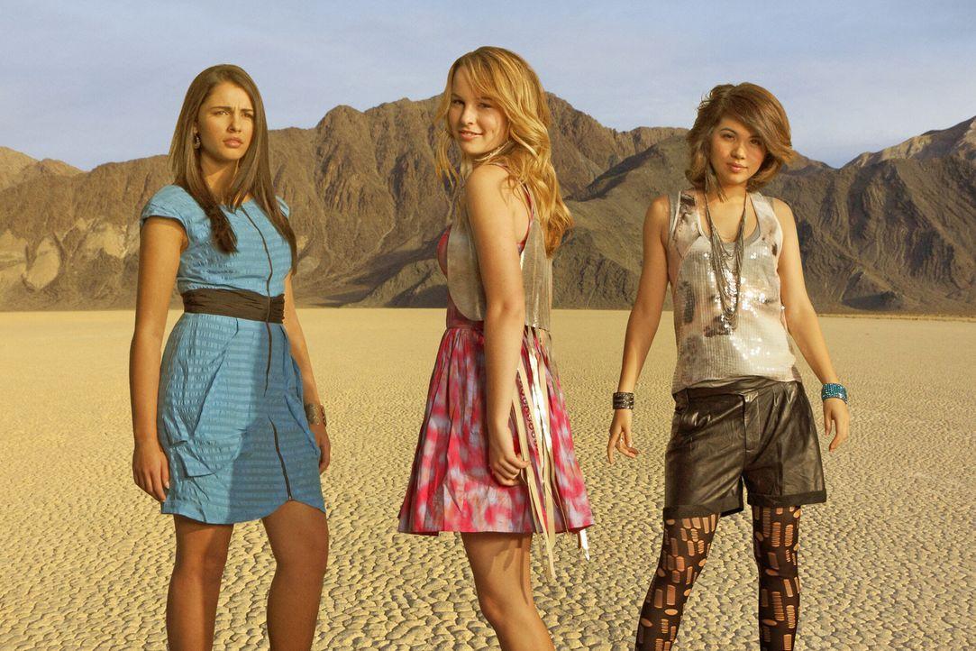 """Gründen die Band """"Lemonade Mouth"""": (v.l.n.r.) Mo (Naomi Scott), Olivia (Bridgit Mendler) und Stella (Hayley Kiyoko) ... - Bildquelle: Disney Media Distribution"""