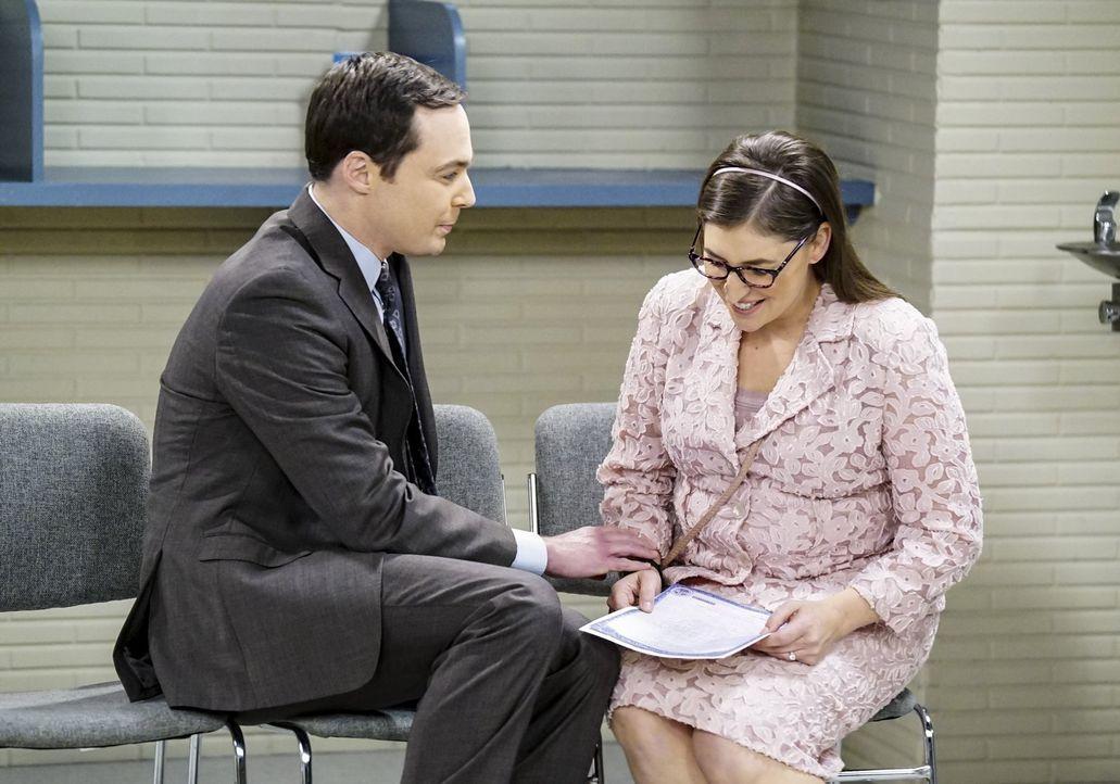 Müssen erkennen, dass mit Wissenschaft nicht alles gelöst werden kann - vor allem in der Liebe nicht: Sheldon (Jim Parsons, l.) und Amy (Mayim Biali... - Bildquelle: Warner Bros. Television