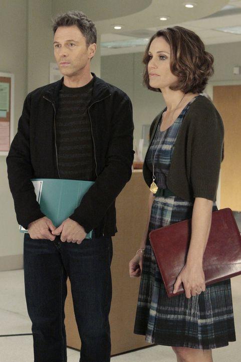 Während Pete (Tim Daly, l.) und Violet (Amy Brenneman, r.) ihre Beziehung retten wollen, haben Charlotte und Cooper Schwierigkeiten mit Mason zu sp... - Bildquelle: ABC Studios