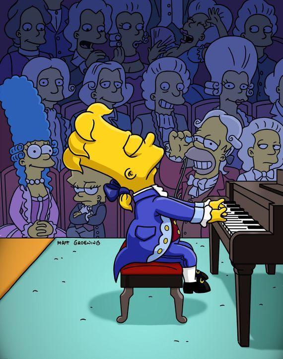Da die Kinder Aufsätze über verschiedene historische Persönlichkeiten schreiben müssen, liest Marge ihnen in der Bibliothek diverse Geschichten... - Bildquelle: und TM Twentieth Century Fox Film Corporation - Alle Rechte vorbehalten
