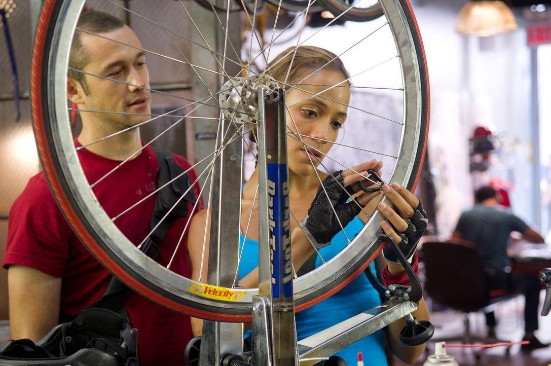 Überaus begabte Fahrradfahrer und selbstmörderische Spinner, die bei jeder Tour ihr Leben verlieren können: die Fahrradkuriere Wilee (Joseph Gordon-... - Bildquelle: 2012 Columbia TriStar Marketing Group, Inc.  All rights reserved.