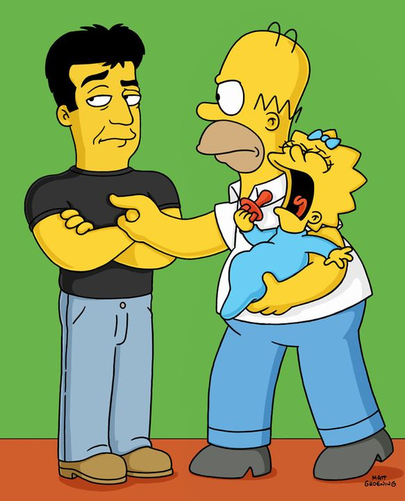 (v.l.n.r.) Simon Cowell; Homer; Maggie - Bildquelle: 2003 Fox and its related entities.  All rights reserved.