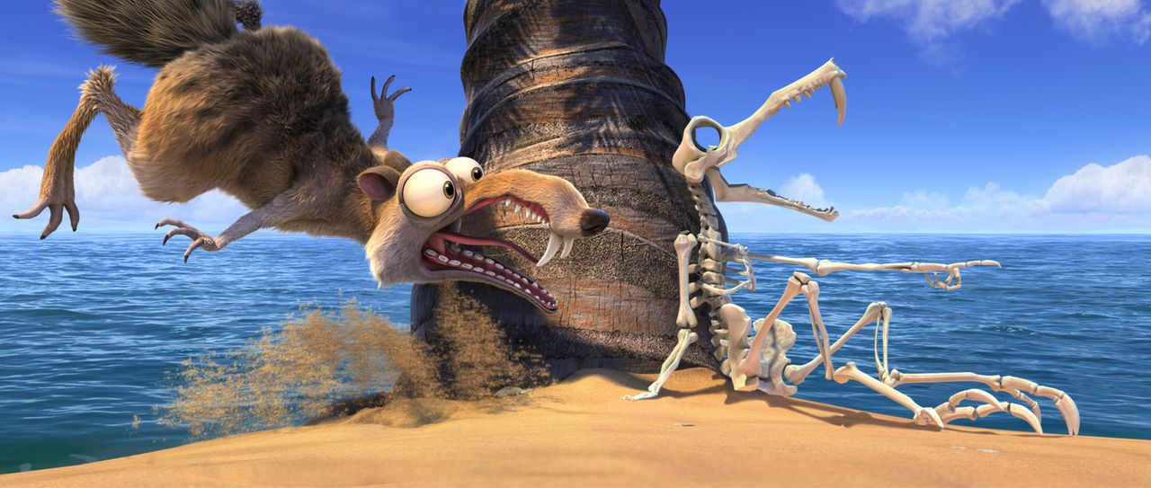 Nachdem Scrat das Objekt seiner Begierde ins Eis gerammt hat, setzt dies eine folgenschwere Kettenreaktion in Gang: die Verschiebung der Kontinental... - Bildquelle: TM &   2012 Twentieth Century Fox Film Corporation. All rights reserved.