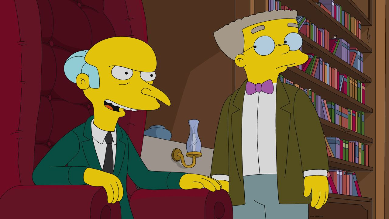 Mr. Burns (l.); Smithers (r.) - Bildquelle: 2020 by Twentieth Century Fox Film Corporation.