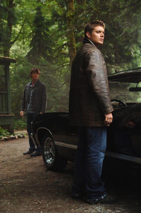 Nachdem ein junges Mädchen spurlos in einem See verschwunden ist, werden Sam (Jared Padalecki, l.) und Dean (Jensen Ackles, r.) neugierig und mache... - Bildquelle: Warner Bros. Television