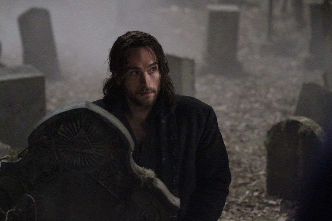 Ichabod Crane (Tom Mison) war Captain des Amerikanischen Unabhängigkeitskrieges. Als er in der Schlacht einen Reiter enthauptet, wird er in die heu... - Bildquelle: 2013 Twentieth Century Fox Film Corporation. All rights reserved.