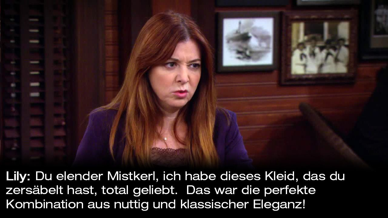 How-I-Met-Your-Mother-Zitate-Staffel-9-11-Lily-Mistkerl - Bildquelle: 20th Century Fox Film Corporation all rights reserved.