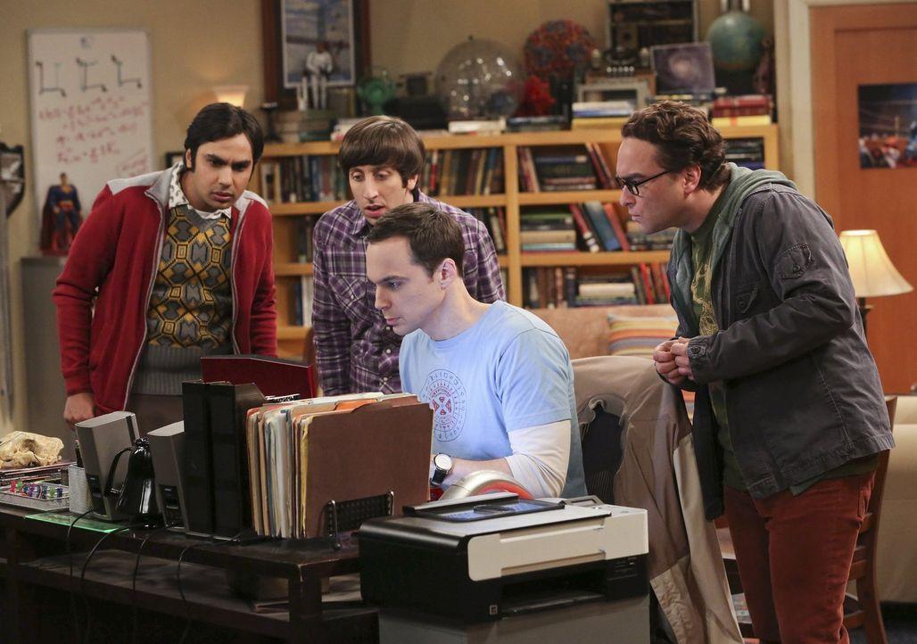 Während Penny, Amy und Bernadette einen gemeinsamen Abend verbringen, haben Howard (Simon Helberg, 2.v.l.), Sheldon (Jim Parsons, 2.v.r.), Leonard (... - Bildquelle: Warner Bros. Television