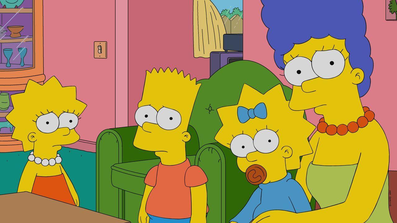 (v.l.n.r.) Lisa; Bart; Maggie; Marge - Bildquelle: 2021 by 20th Television.
