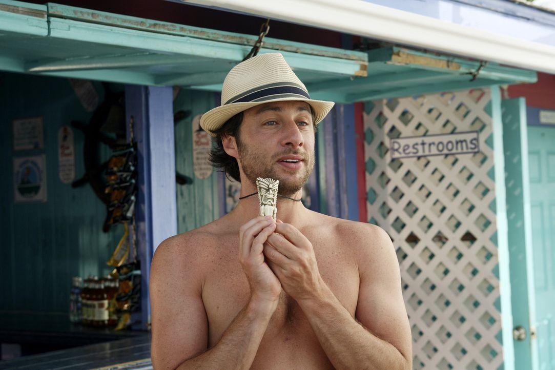 Der Hausmeister und seine Lady verschicken Einladungen für ihre Hochzeit auf den Bahamas, um Aufmerksamkeit zu erlangen. J.D. (Zach Braff) überred... - Bildquelle: Touchstone Television