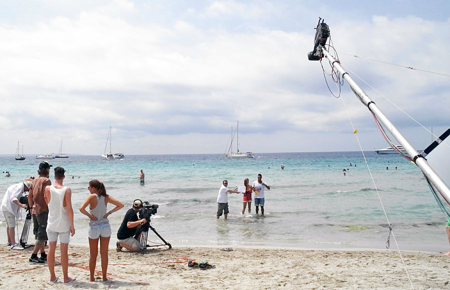 Dreharbeiten am Strand