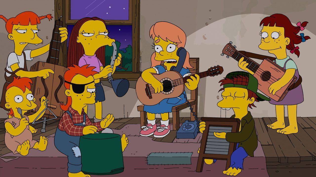 Mary Spuckler (3.v.r.) hat einen ganz besonderen Song für Bart ... - Bildquelle: und TM Twentieth Century Fox Film Corporation - Alle Rechte vorbehalten