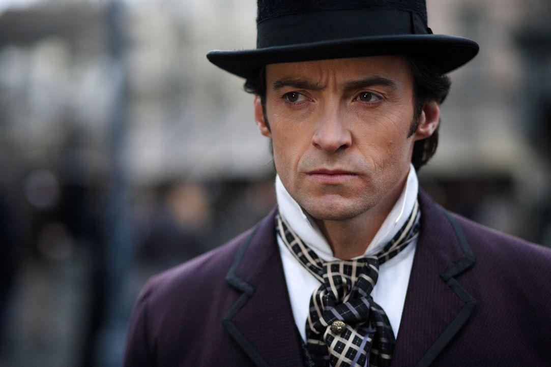 Nach dem tragischen Tod seiner Frau sieht Robert Angier (Hugh Jackman) in seinem Freund und Magierkollegen Alfred Borden den Schuldigen. Fortan sind... - Bildquelle: Warner Television