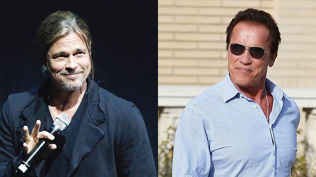 Top: Brad Pitt+++Flop: Arnold Schwarzenegger - Bildquelle: getty-AFP/WENN.com