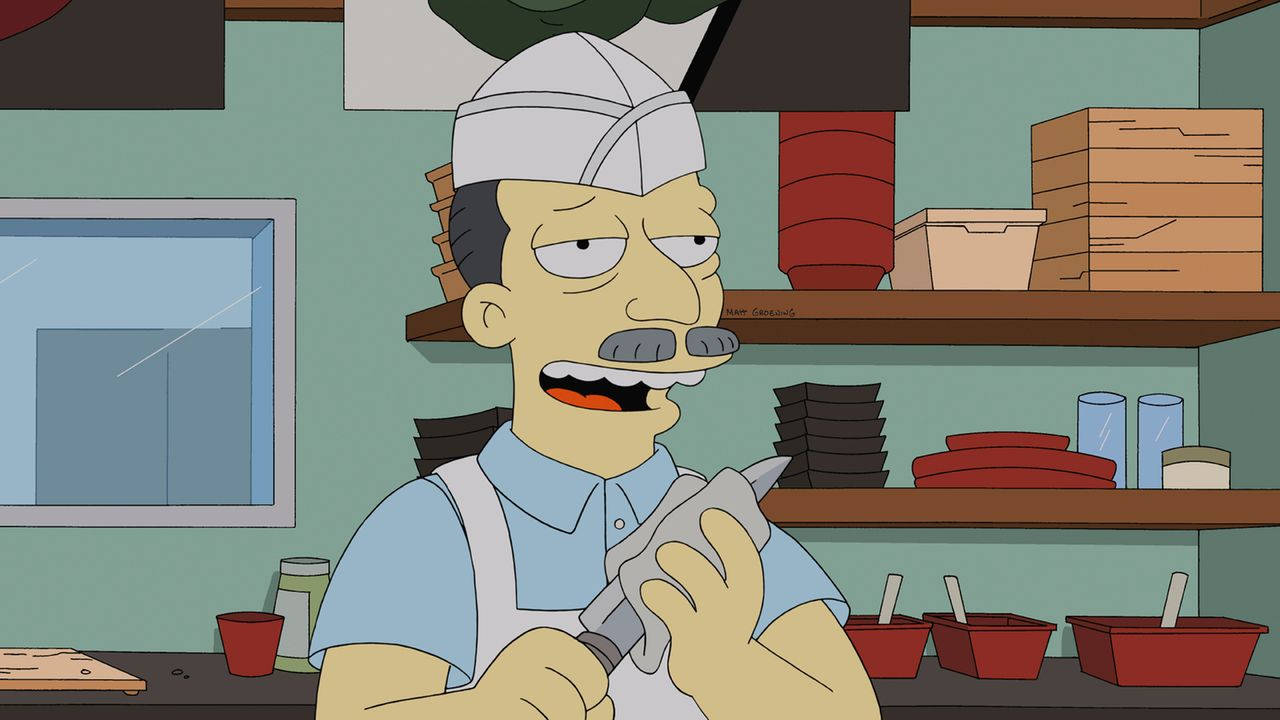 Homer sucht Rat beim Sushi-Küchen-Chef ... - Bildquelle: und TM Twentieth Century Fox Film Corporation - Alle Rechte vorbehalten