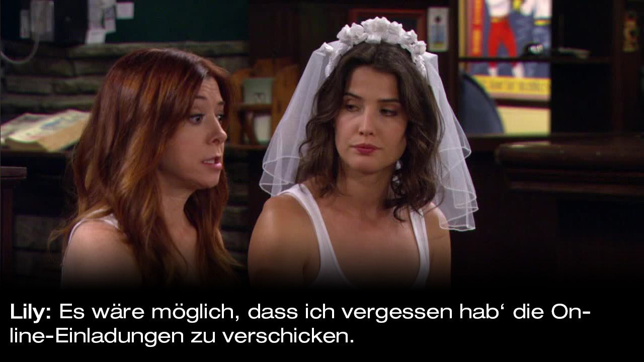 How-I-Met-Your-Mother-Zitate-Staffel-9-16-Lily-einladung - Bildquelle: 20th Century Fox Film Corporation all rights reserved.
