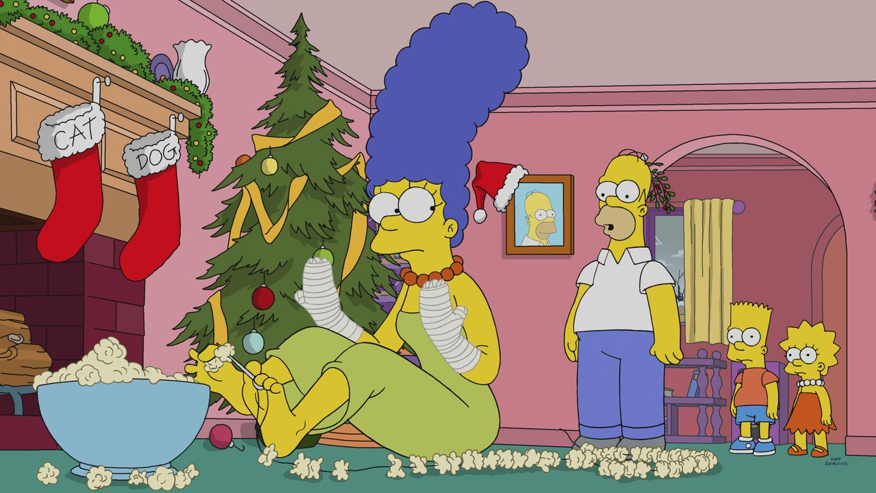 (v.l.n.r.) Marge; Homer; Bart; Lisa - Bildquelle: 2018-2019 Fox and its related entities. All rights reserved.