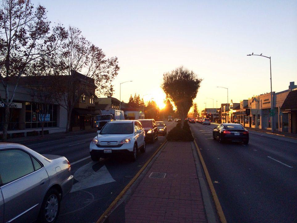 Morgens, halb Acht in Kalifornien