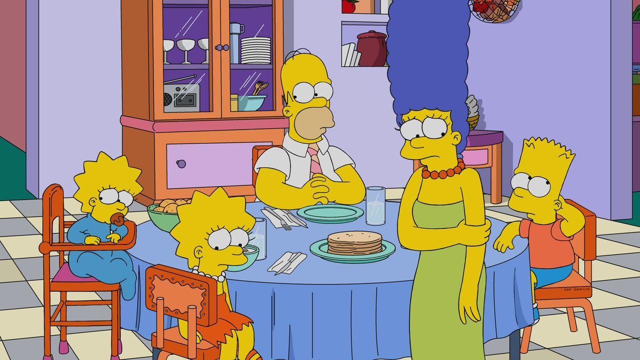 (v.l.n.r.) Maggie; Lisa; Homer; Marge; Bart - Bildquelle: 2019-2020 Twentieth Century Fox Film Corporation.  All rights reserved.