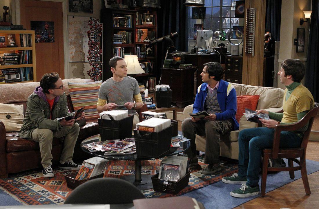 Eine ganz besondere Truppe: Sheldon (Jim Parsons, 2.v.l.), Raj (Kunal Nayyar, 2.v.r.), Leonard (Johnny Galecki, l.) und Howard (Simon Helberg, r.) ... - Bildquelle: Warner Bros. Television