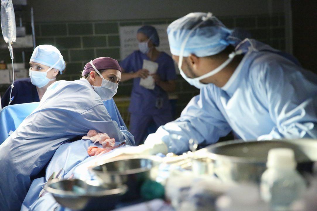 Ein Erdbeben trifft Seattle und Meredith (Ellen Pompeo, 2.v.l.) versucht alles, um einen Patienten zu retten ... - Bildquelle: ABC Studios