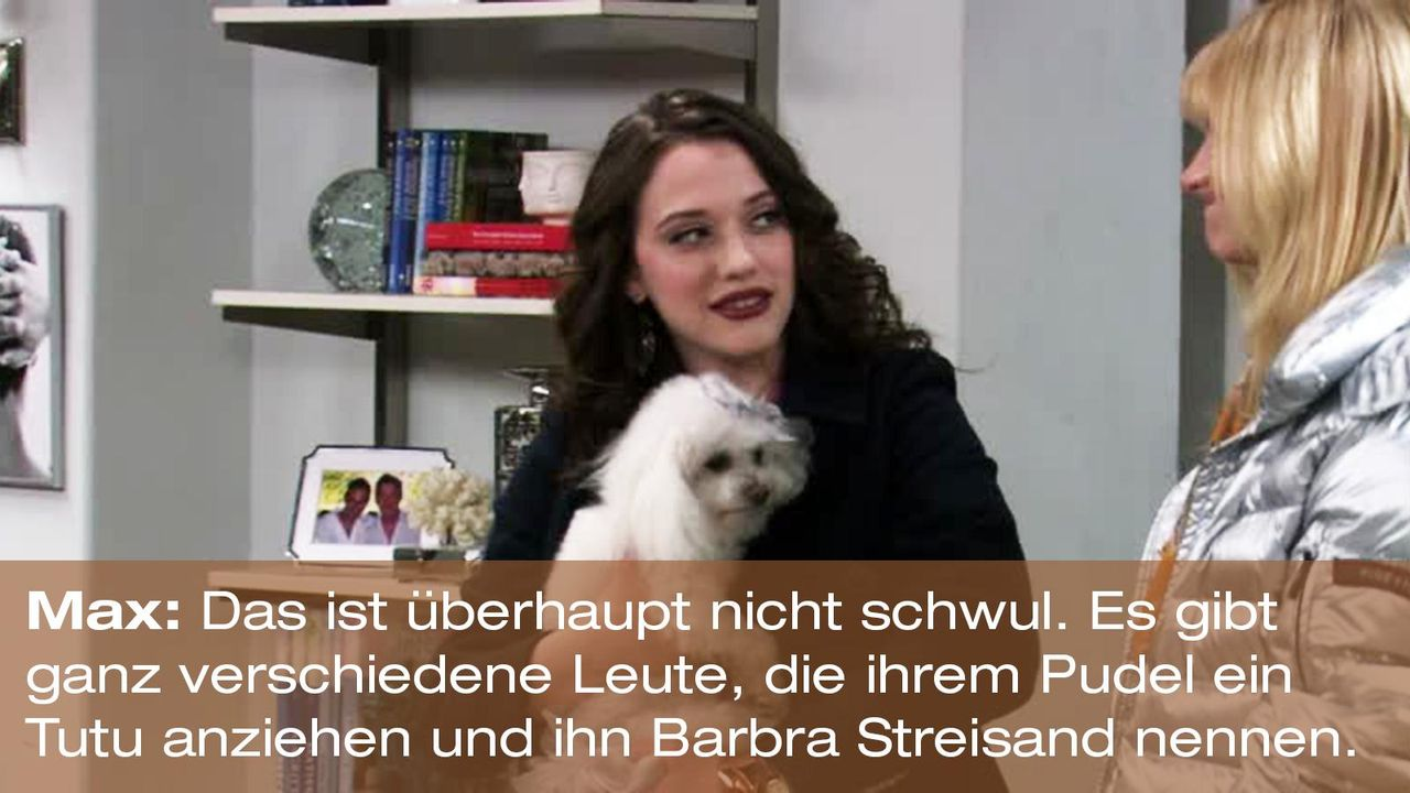 2-broke-girls-zitat-staffel1-episode-19-spring-break-max-barbra-streisand-warnerpng 1600 x 900 - Bildquelle: Warner Brothers Entertainment Inc.