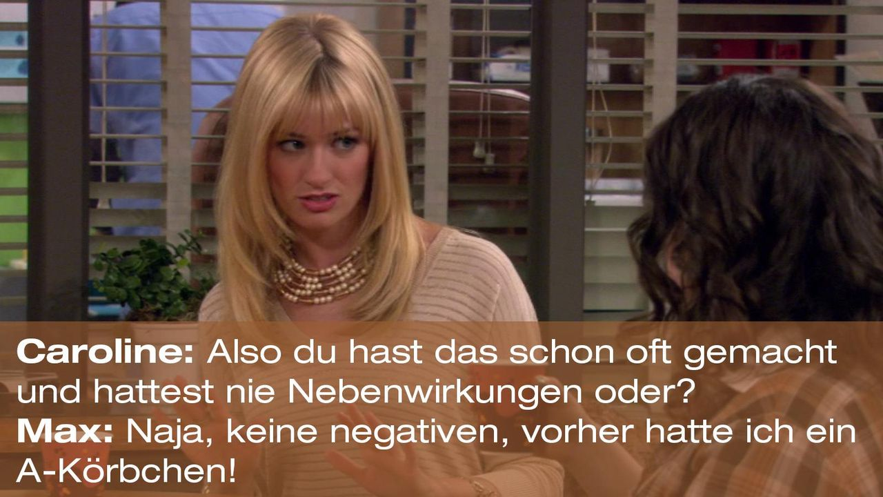 2-broke-girls-zitat-staffel1-episode-20-nebenwirkungen-caroline-max-a-koerbchen-warnerpng 1600 x 900 - Bildquelle: Warner Brothers Entertainment Inc.