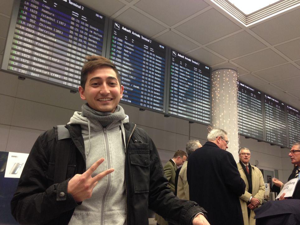 Saruul am Flughafen in München