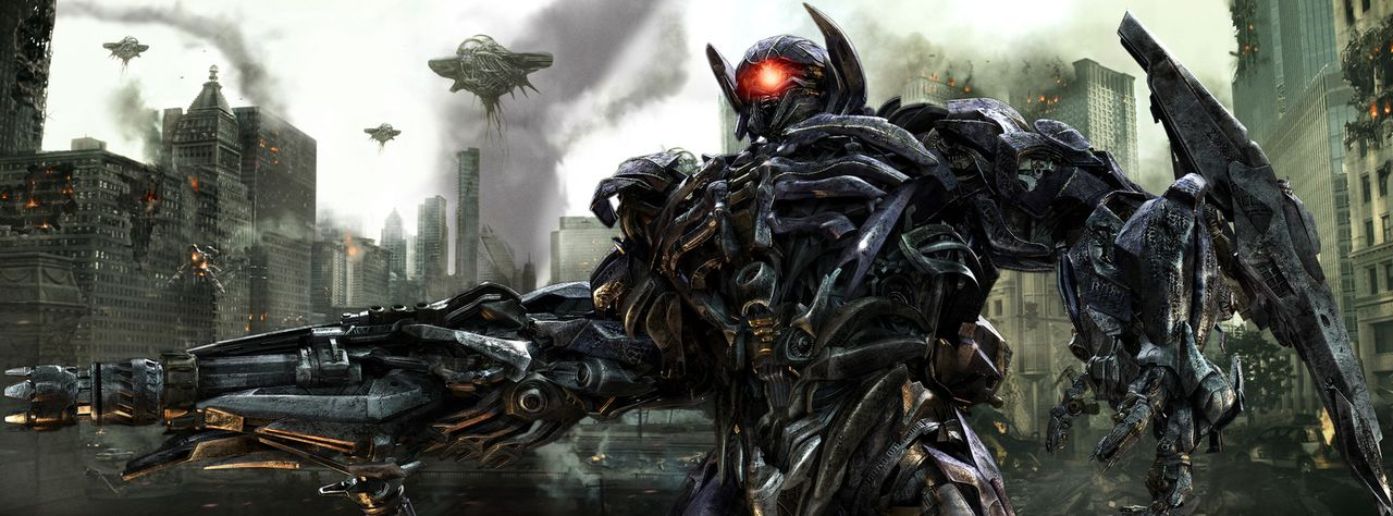 Shockwave (Bild) ist inzwischen doppelt gefährlich, weil er über ein Haustier verfügt, einen riesigen wurmähnlichen Roboter ... - Bildquelle: 2010 Paramount Pictures Corporation.  All Rights Reserved.