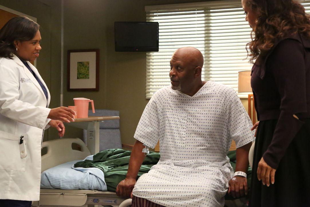 Nachdem Webber (James Pickens Jr.,M.) einen Stromschlag erlitten hat, verschlechtert sich sein Zustand zunehmend. Bailey (Chandra Wilson, l.) soll i... - Bildquelle: ABC Studios