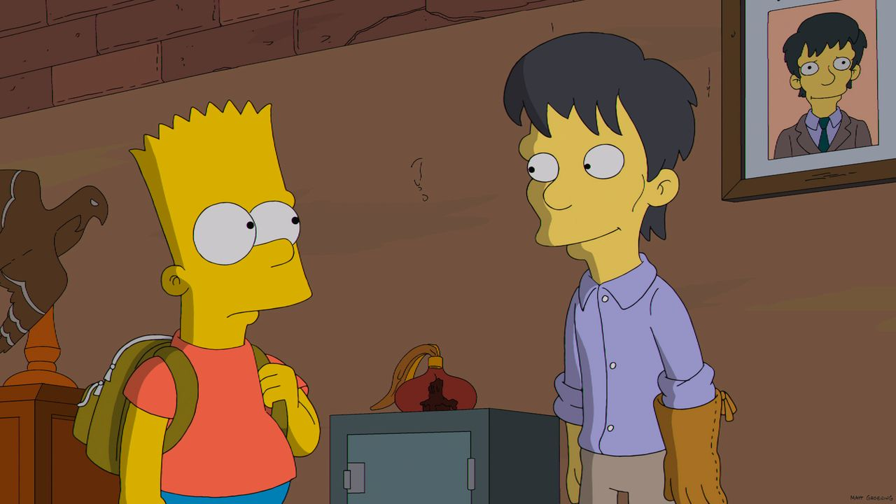 Bart Simpson (l.) ist fasziniert von seinem neuen Mitschüler Diggs (r.), auch wenn dieser ein wenig seltsam ist ... - Bildquelle: 2013 Twentieth Century Fox Film Corporation. All rights reserved.
