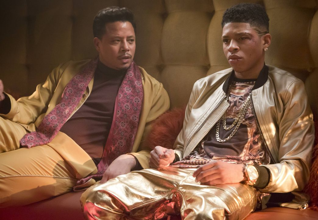 Da Lucious (Terrence Howard, l.) seinen schwulen Sohn nicht unterstützt, hat er mehr Zeit für Rapper Hakeem (Bryshere Y. Gray, r.). Ob er ihn auch z... - Bildquelle: 2015 Fox and its related entities.  All rights reserved.