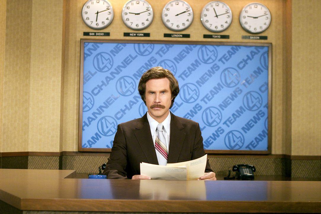 Im San Diego der 70er Jahre ist Ron Burgundy (Will Ferrell) der selbstverliebte Anchorman für die Lokalnachrichten. Eines Tages jedoch taucht eine... - Bildquelle: Frank Masi DreamWorks