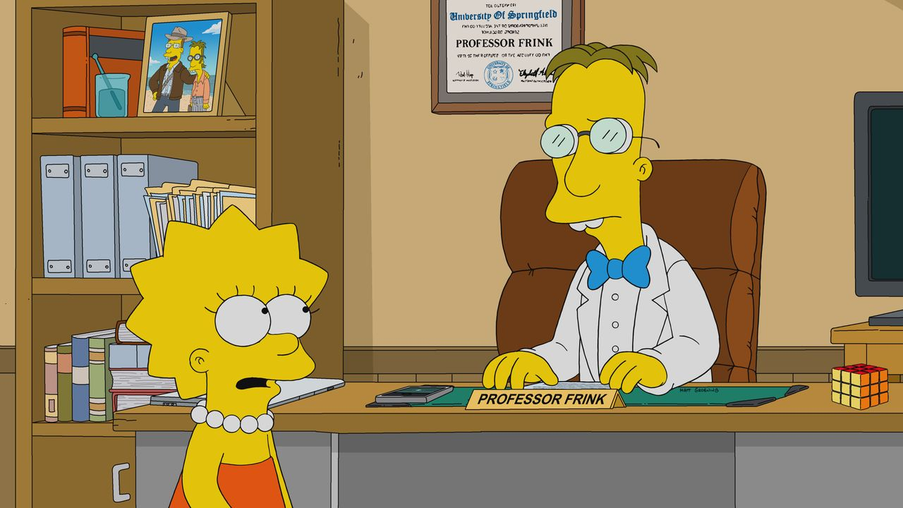 Lisa (l.); Professor Frink (r.) - Bildquelle: 2019-2020 Twentieth Century Fox Film Corporation.  All rights reserved.