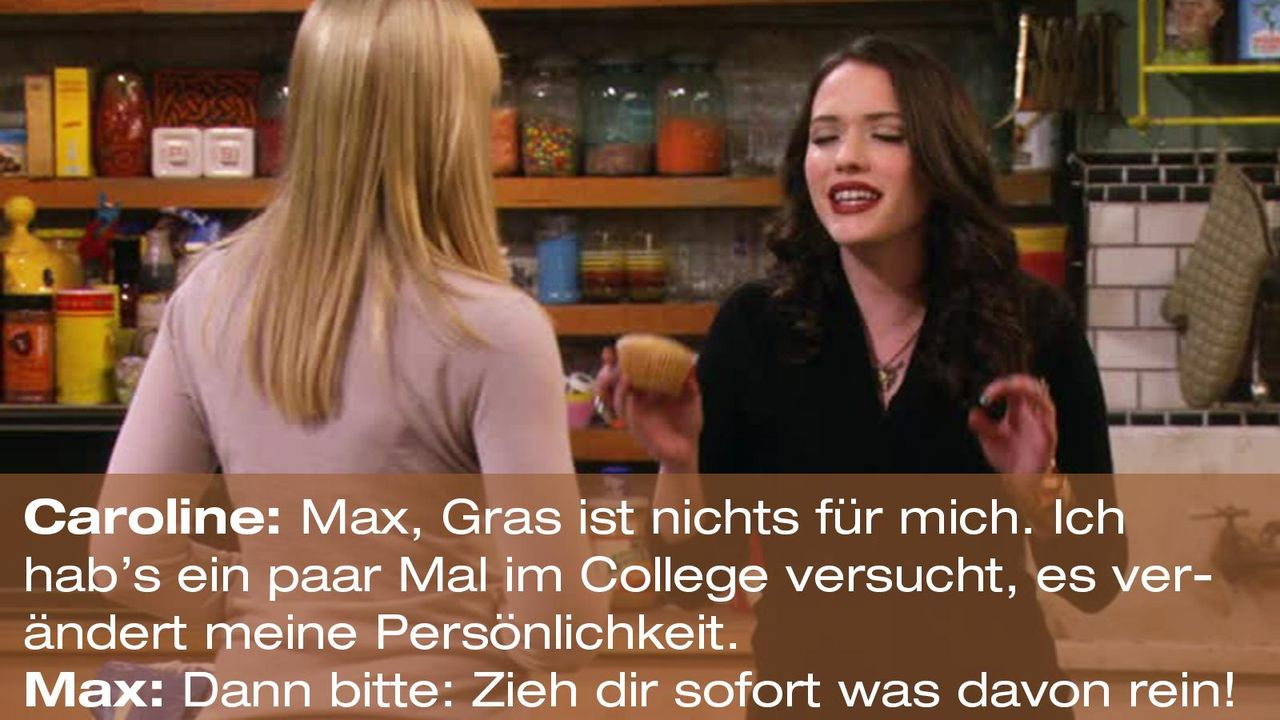 2-broke-girls-zitat-quote-staffel2-episode12-breite-weihnachten-max-reinziehen-warnerpng 1600 x 900 - Bildquelle: Warner Bros. International Television