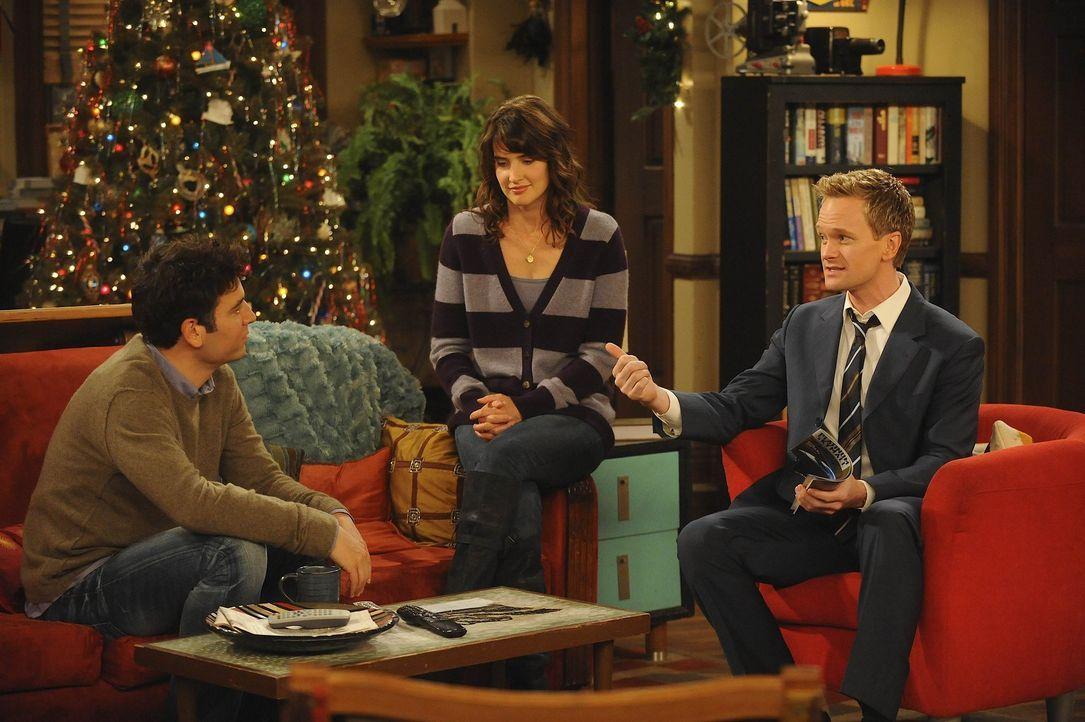 Überdenken ihr Leben, als sie erfahren, dass Lily schwanger ist: Barney (Neil Patrick Harris, r.), Ted (Josh Radnor, l.) und Robin (Cobie Smulders,... - Bildquelle: 20th Century Fox International Television