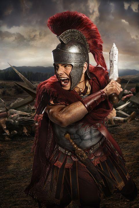 Marcus Crassus' Sohn Tiberius (Christian Antidormi) begeht einen fatalen Fehler, als er sich an seinem Vater rächen will ... - Bildquelle: 2012 Starz Entertainment, LLC. All rights reserved.