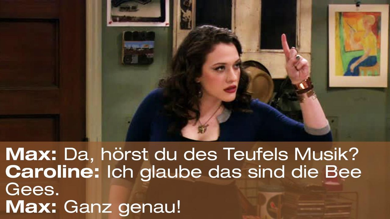 2-broke-girls-zitat-episode-15-staffel-1-unbekannte-nachbar-max-teufels-musik-warnerpng 1600 x 900 - Bildquelle: Warner Brothers Entertainment Inc.