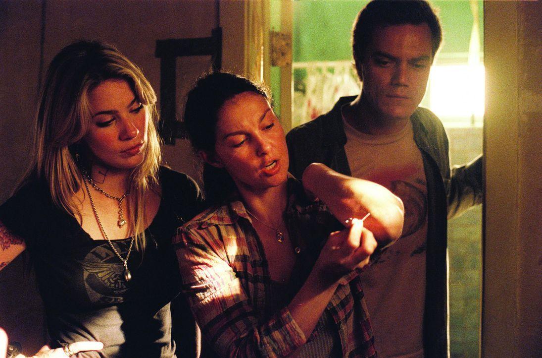 R.C. (Lynn Collins, l.) kann nicht glauben, dass Agnes (Ashley Judd, M.) und Peter (Michael Shannon, r.) von Insekten besetzt sind. Doch dann beginn...