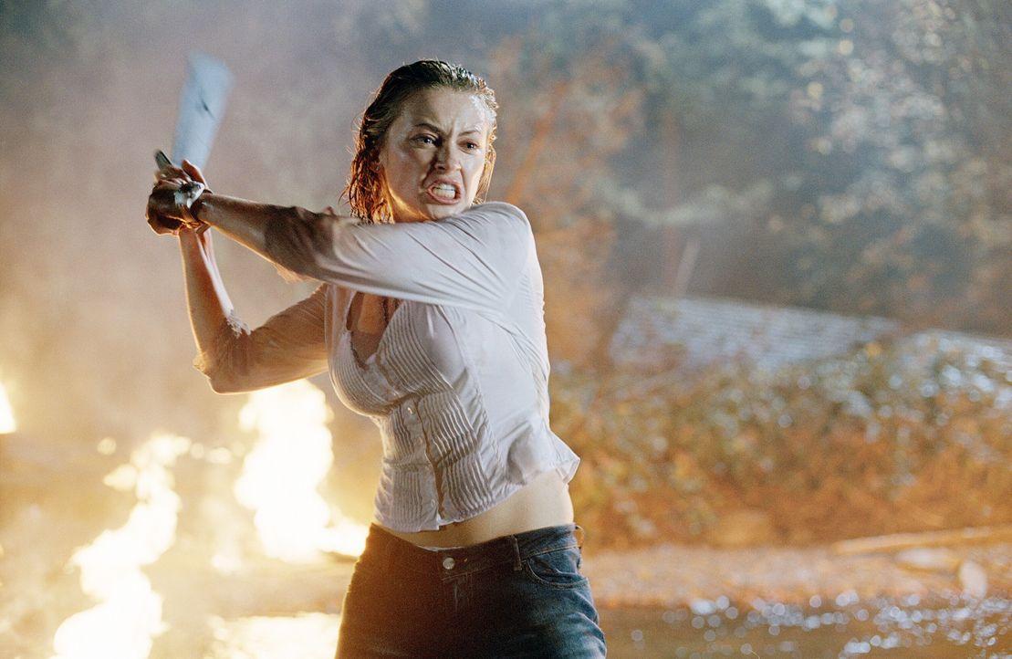 Nimmt den Kampf gegen die Titanen des Horrors auf: Lori (Monica Keena) ... - Bildquelle: Warner Bros. Pictures