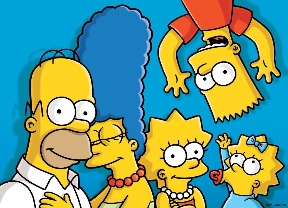 (26. Staffel) - Die Simpsons: Maggie (r.), Marge (2.v.l.), Homer (l.), Bart (2.v.r.) und Lisa Simpson (M.) ... - Bildquelle: 2014 Fox and its related entities. All rights reserved