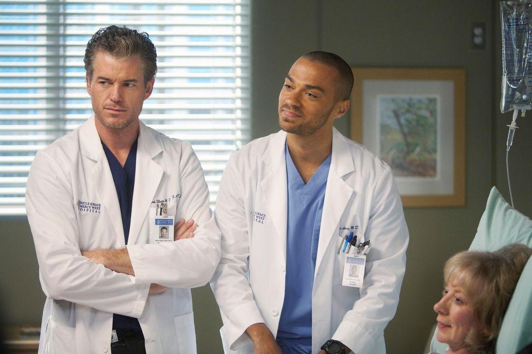 Grey's Anatomy – Mark und Lexie – 24: Mark (Eric Dane), Jackson (Jesse Williams) - Bildquelle: ABC Studios